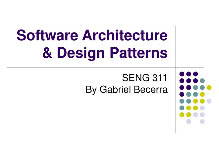 software architecture design patterns n.