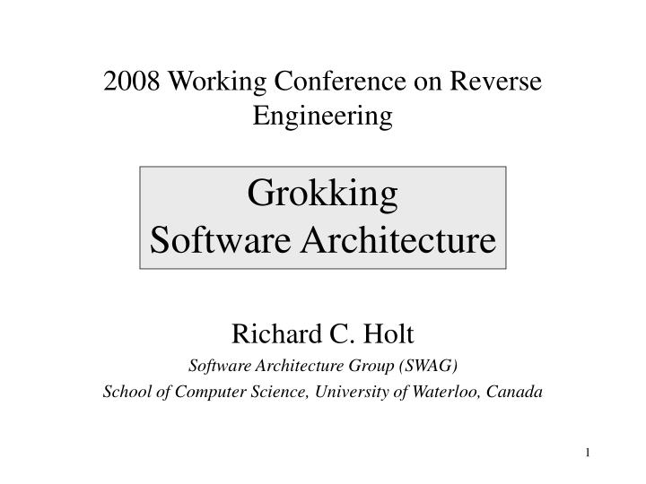 grokking software architecture n.