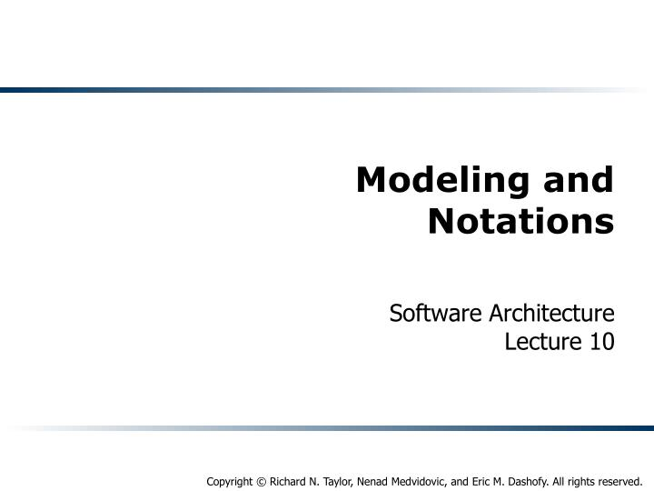 modeling and notations n.