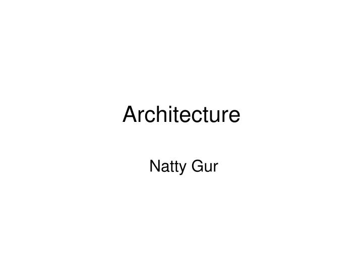 architecture n.