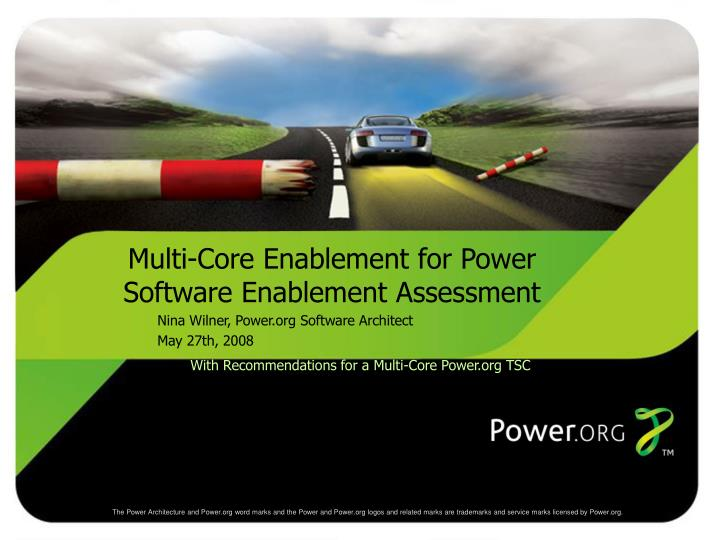with recommendations for a multi core power org tsc n.