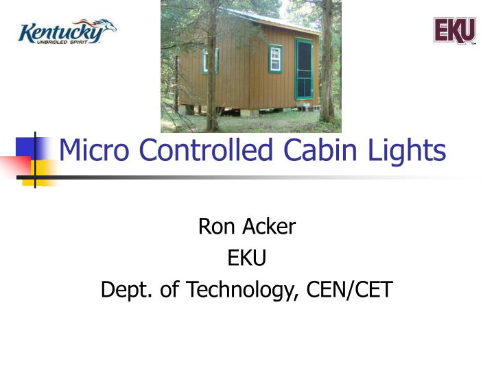 micro controlled cabin lights n.