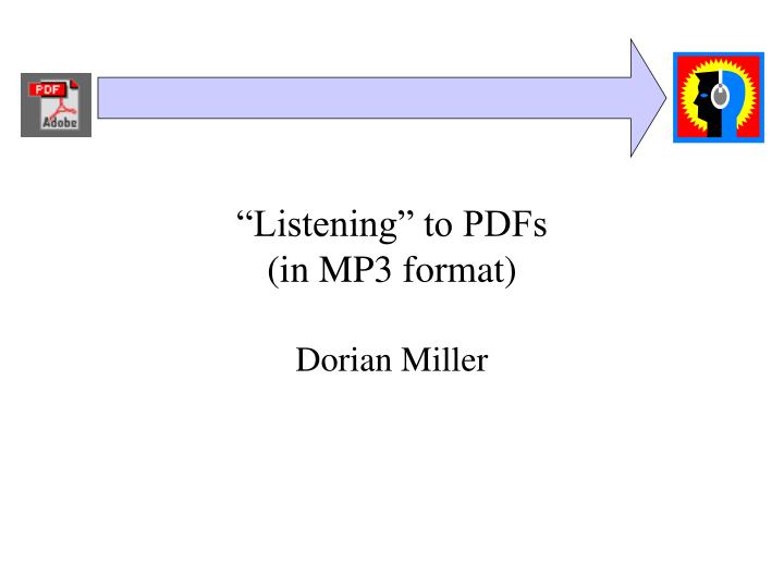 listening to pdfs in mp3 format n.