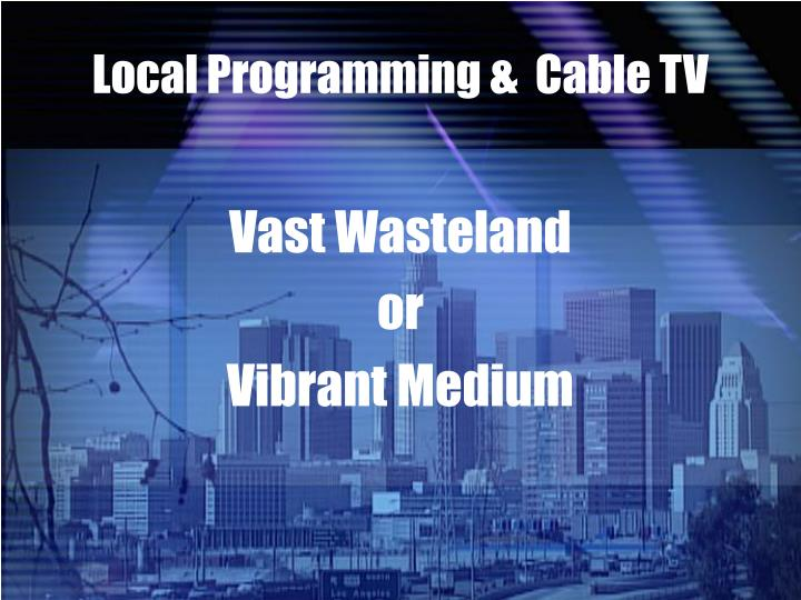 local programming cable tv n.