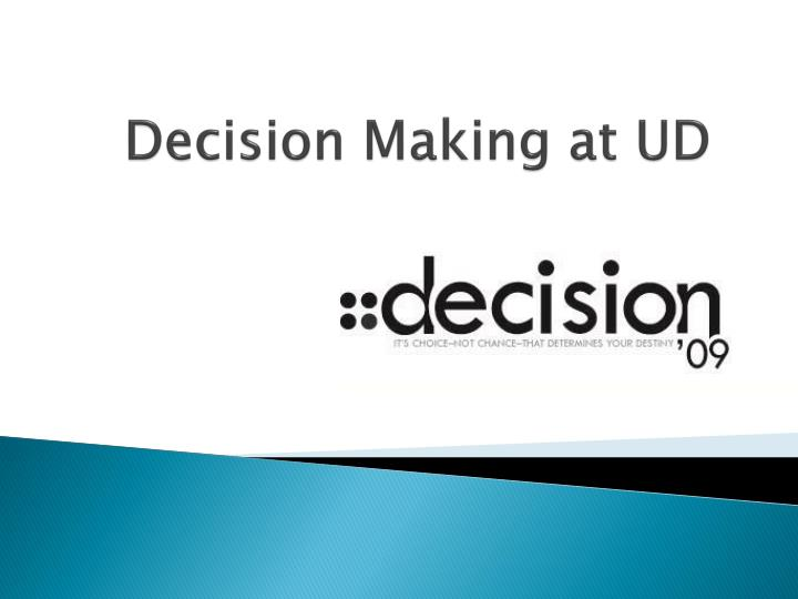 decision making at ud n.