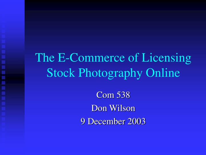 the e commerce of licensing stock photography online n.