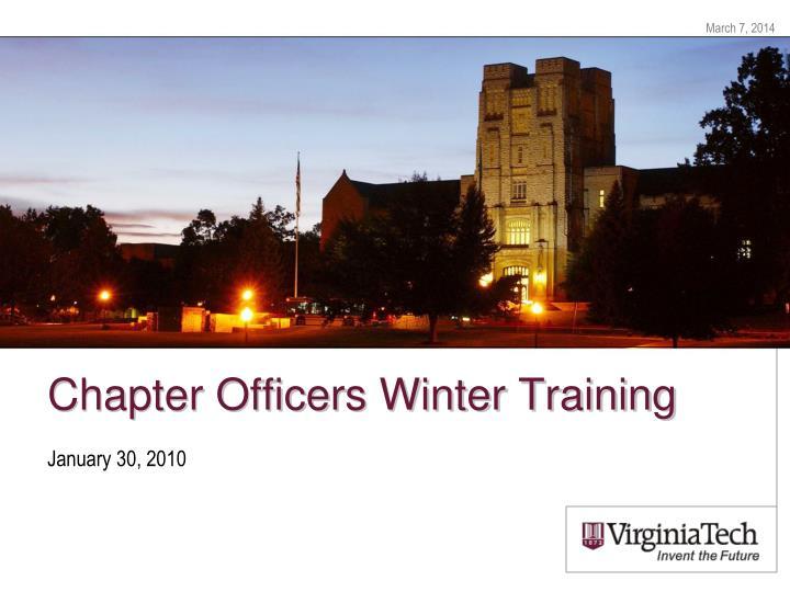 chapter officers winter training n.