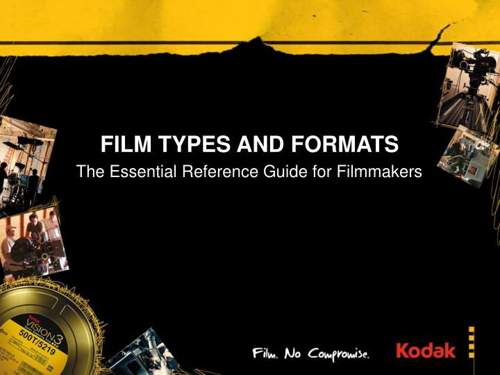 film types and formats n.