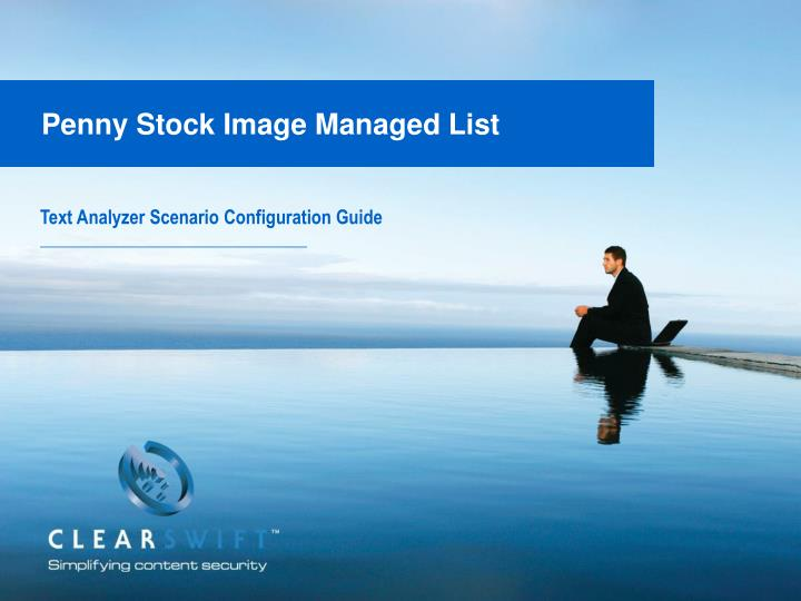 penny stock image managed list n.