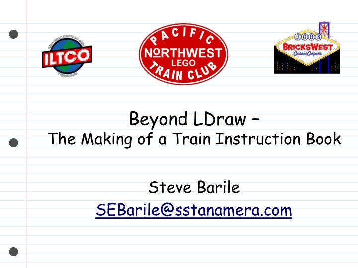 beyond ldraw the making of a train instruction book n.