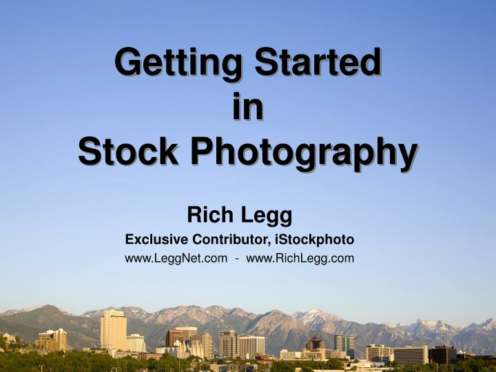 getting started in stock photography n.