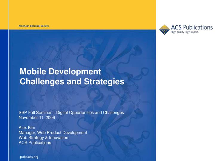 mobile development challenges and strategies n.