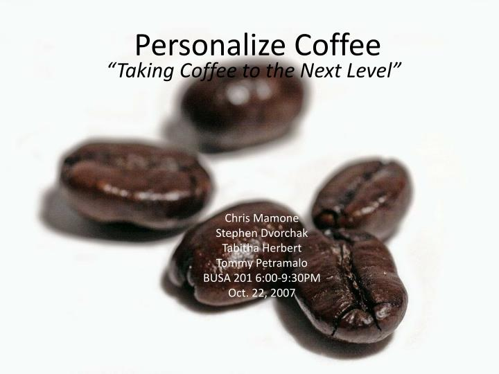 personalize coffee n.
