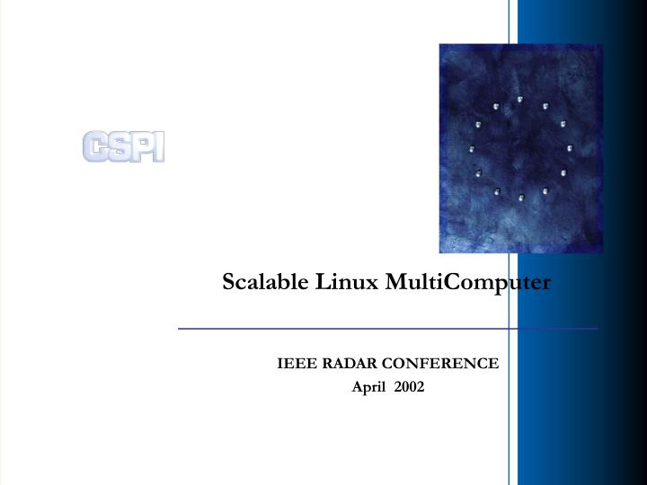 scalable linux multicomputer n.