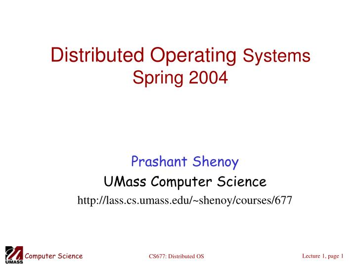 distributed operating systems spring 2004 n.