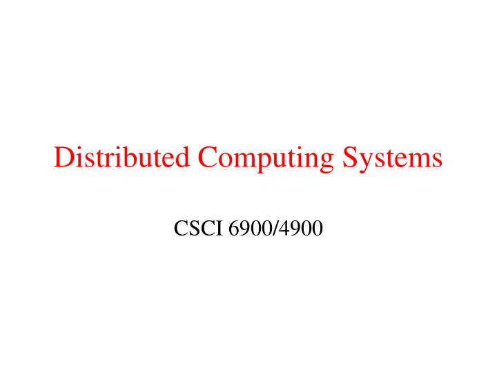 distributed computing systems n.