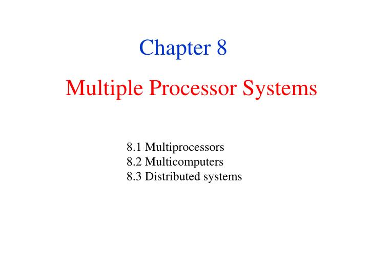 multiple processor systems n.