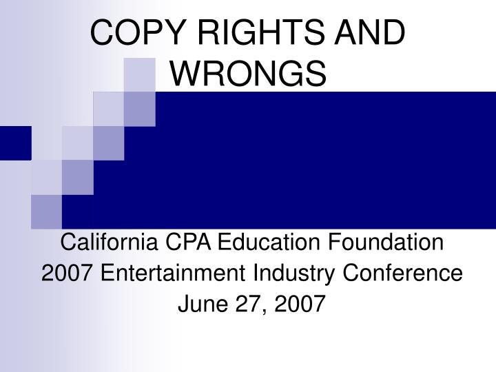 copy rights and wrongs n.