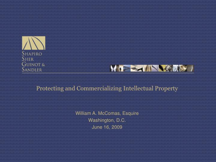 protecting and commercializing intellectual property n.