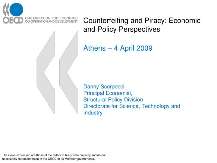 counterfeiting and piracy economic and policy perspectives n.