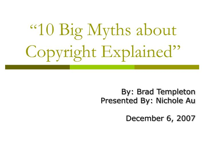10 big myths about copyright explained n.