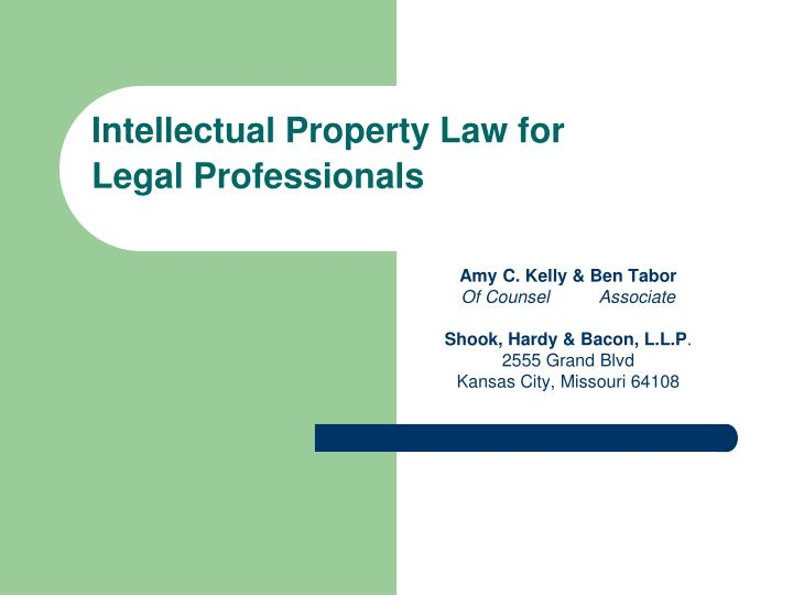 intellectual property law for legal professionals n.