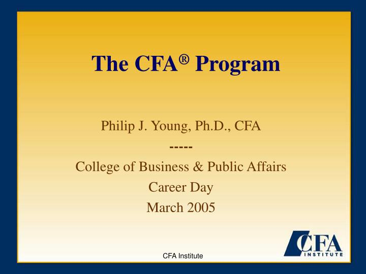 the cfa program n.