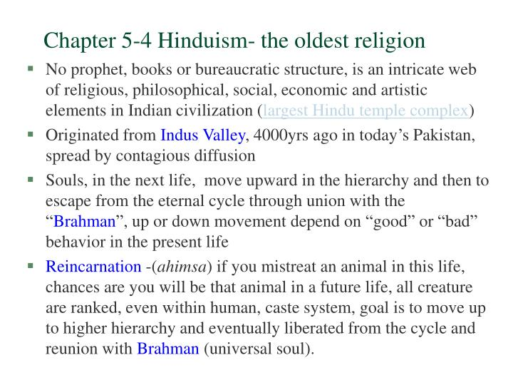 chapter 5 4 hinduism the oldest religion n.