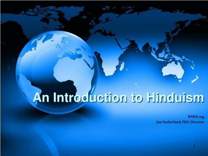 an introduction to hinduism n.