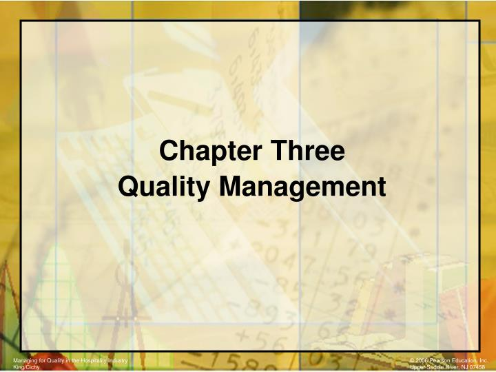 chapter three quality management n.