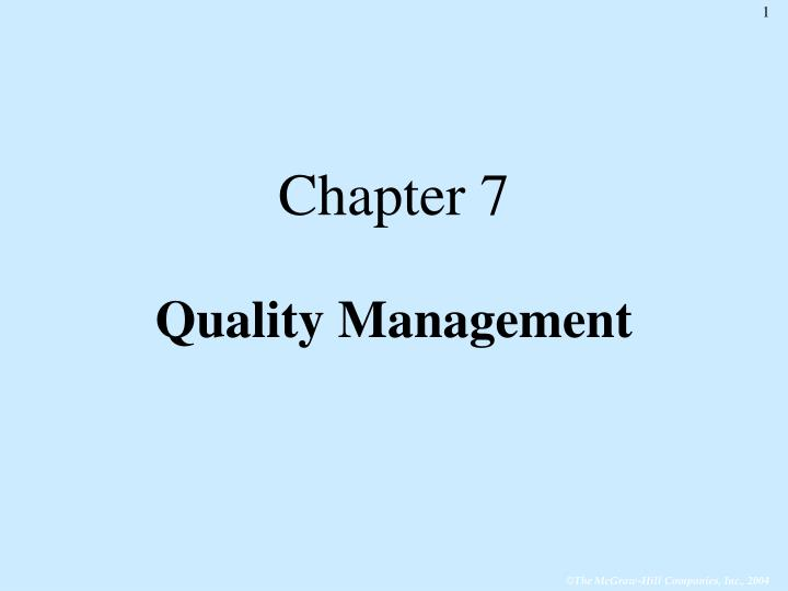 chapter 7 quality management n.