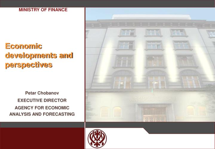 economic developments and perspectives n.
