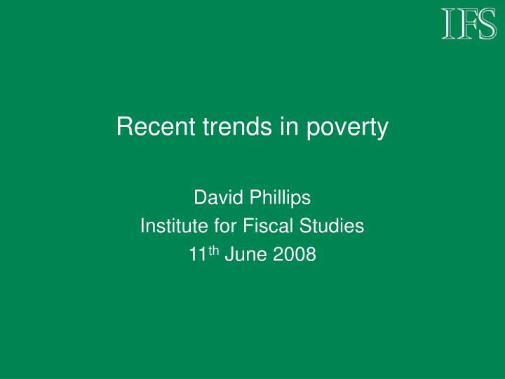 recent trends in poverty n.
