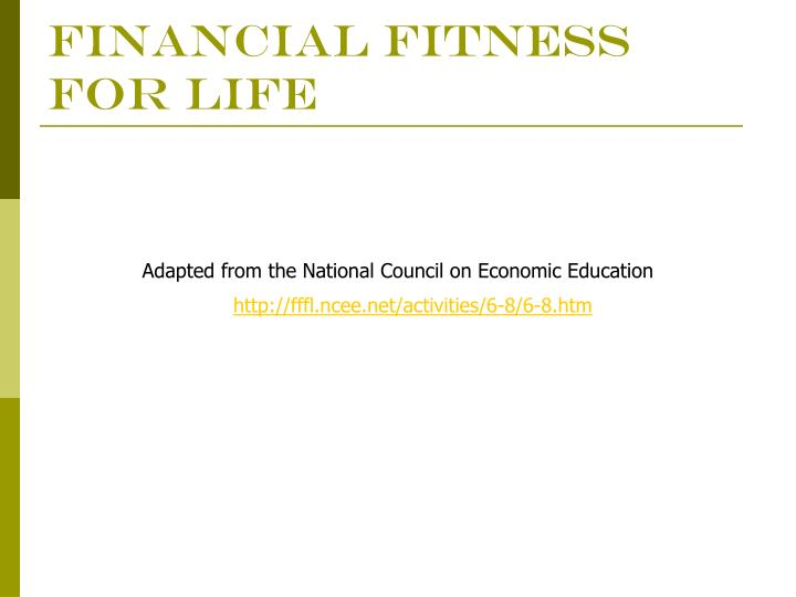 financial fitness for life n.