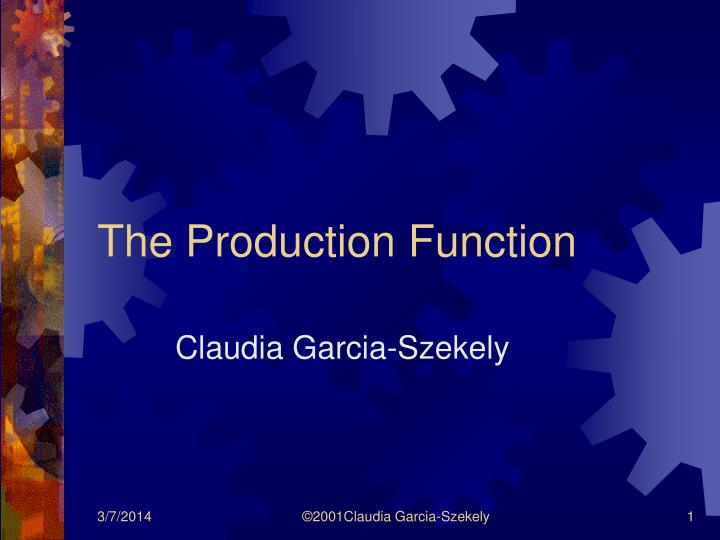 the production function n.