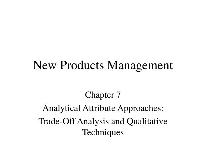 new products management n.