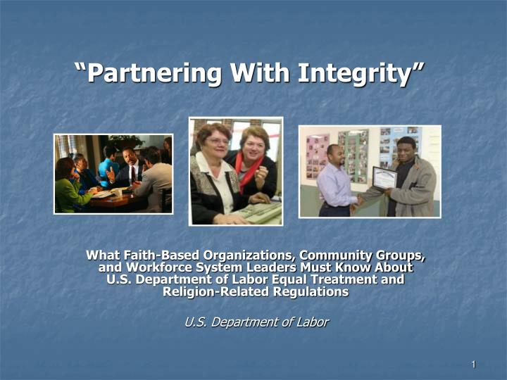 partnering with integrity n.
