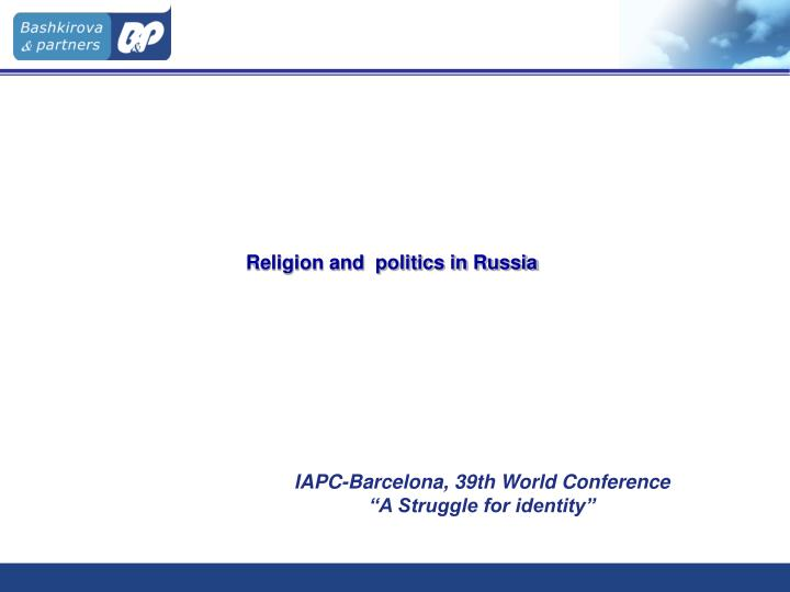 religion and politics in russia n.