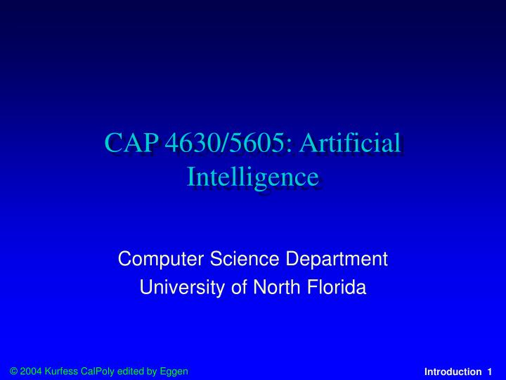 cap 4630 5605 artificial intelligence n.