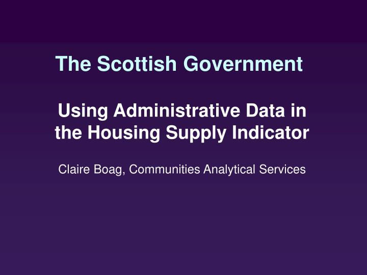 the scottish government n.