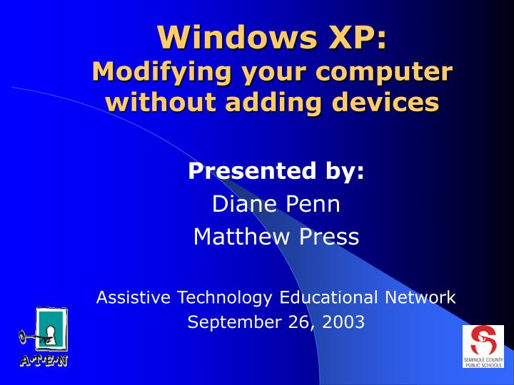 windows xp modifying your computer without adding devices n.