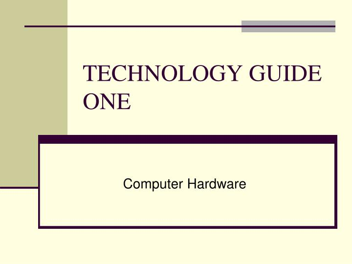 technology guide one n.