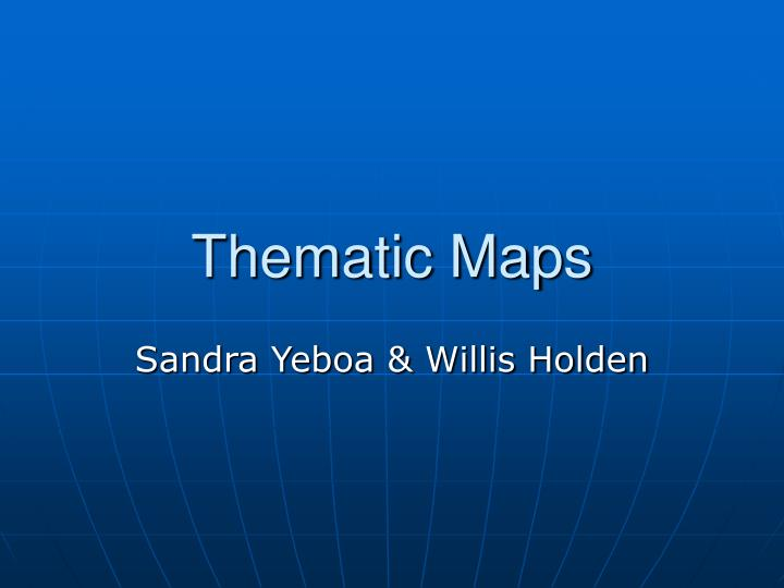 thematic maps n.