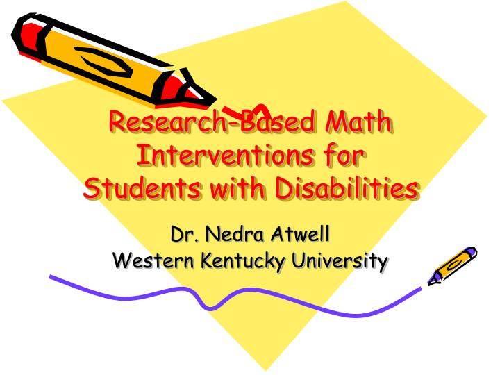 research based math interventions for students with disabilities n.