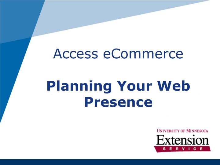 access ecommerce planning your web presence n.