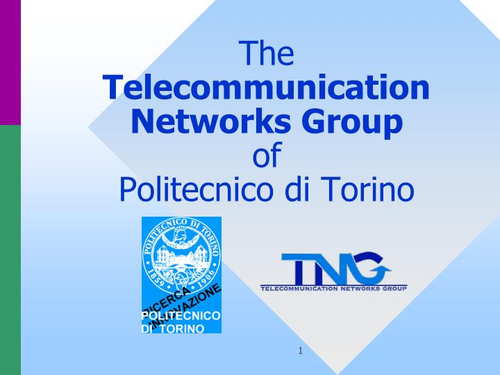 the telecommunication networks group of politecnico di torino n.