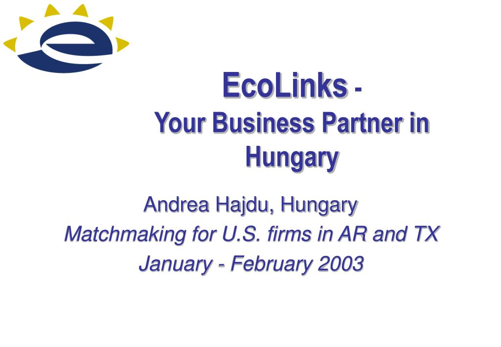 ecolinks your business partner in hungary l.