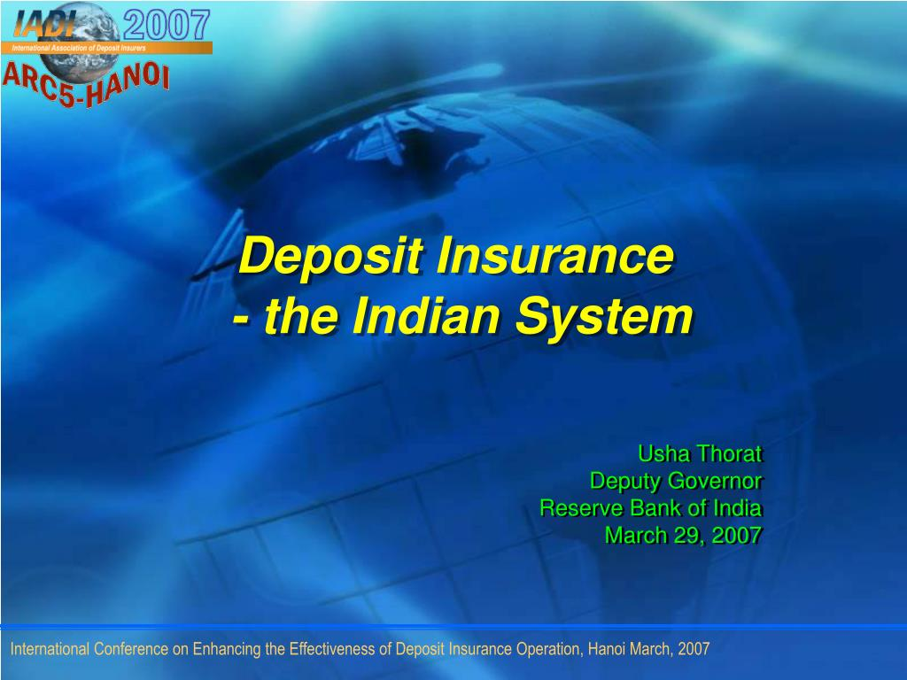 deposit insurance the indian system l.