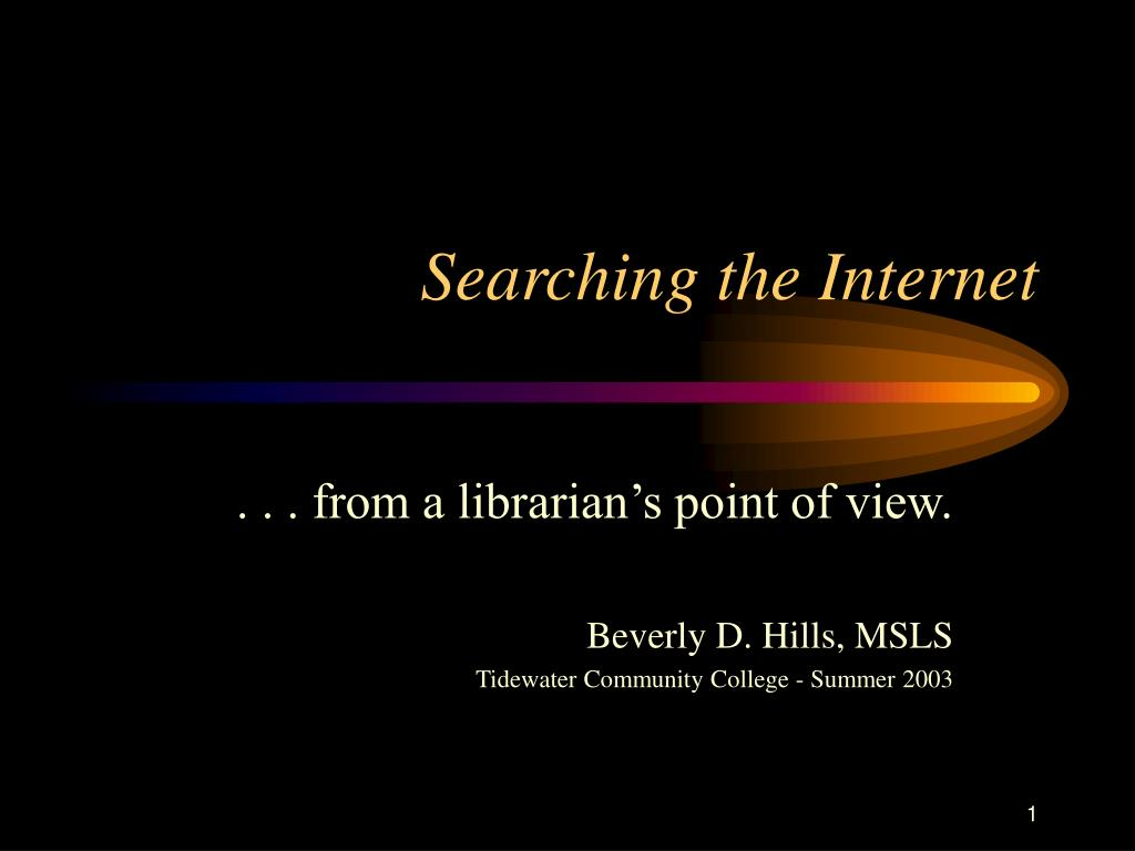 searching the internet l.