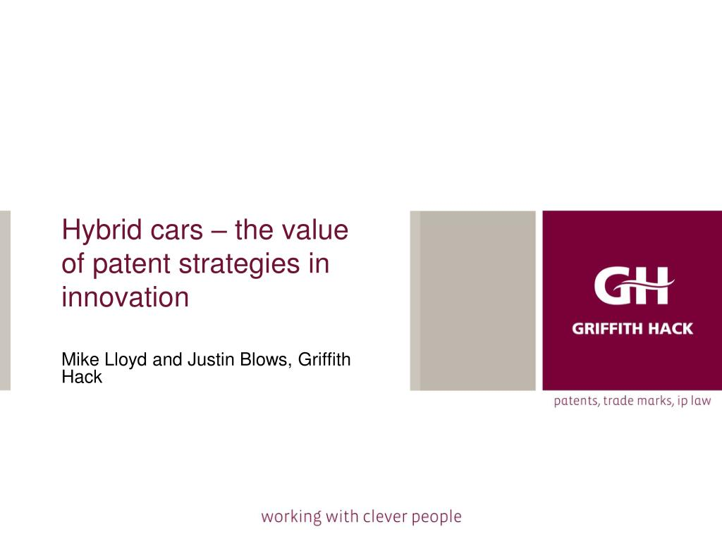 hybrid cars the value of patent strategies in innovation l.
